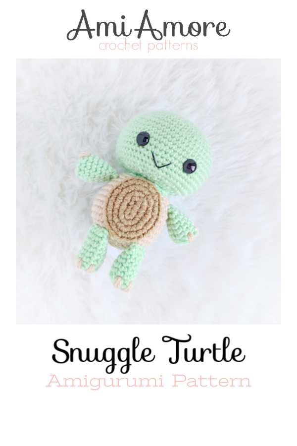 Make your own sweet little turtle in just a few hours! Use your imagination to customize it's colors for endless possibilities! The easy-to-follow pattern has step by step photos and is suited for advanced beginner/intermediate crocheters.