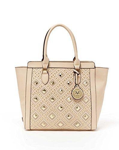 5095bef35234 VERSACE V1969 Italia Womens Designer Veronika Tote Handbag By Versace 19.69  Abbigliamento Sportivo Srl (More.  versace  bags  leather  hand bags  tote