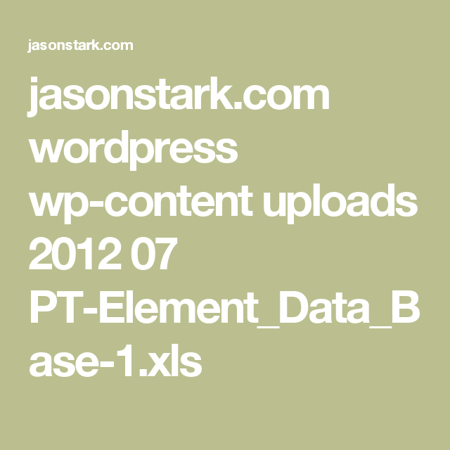 Jasonstark wordpress wp content uploads 2012 07 pt jasonstark wordpress wp content uploads 2012 07 pt elementdatabase 1 urtaz Image collections