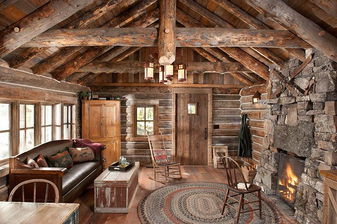 Authentic Log Cabin Exquisitely Restored To 1900 S Splendor Log Cabin Homes Cabin Homes Log Homes