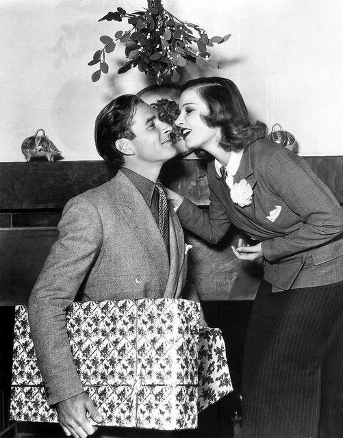 Errol Flynn under the mistletoe :)