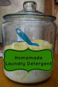 Here's a post to read if you've been thinking about trying out homemade laundry detergent!  It's organic, so it's safe for your family. | Homemade Laundry Detergent