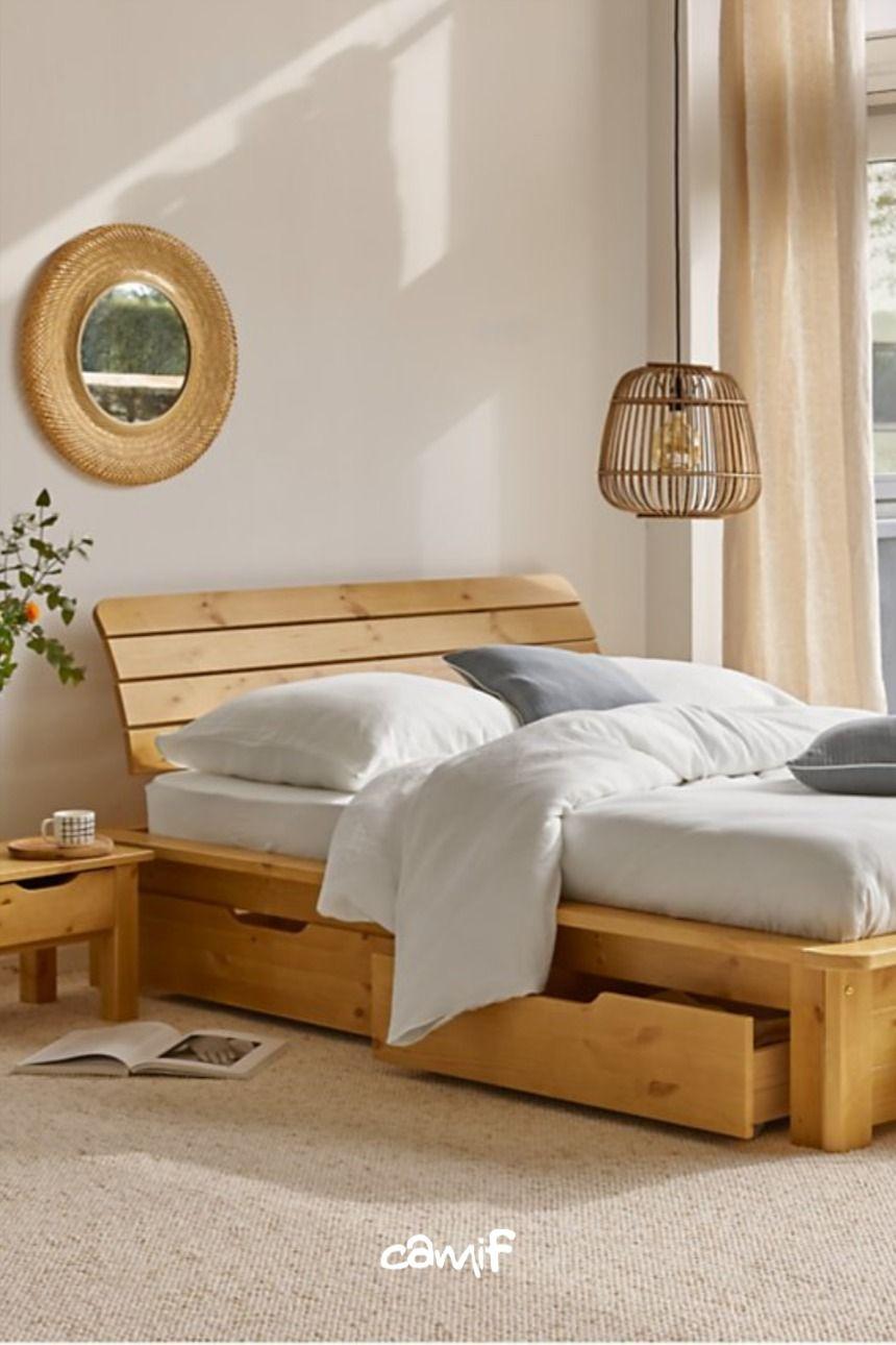 Camif Chambre Cocooning En 2020 Lit Bois Deco Chambre Parental Decoration Maison
