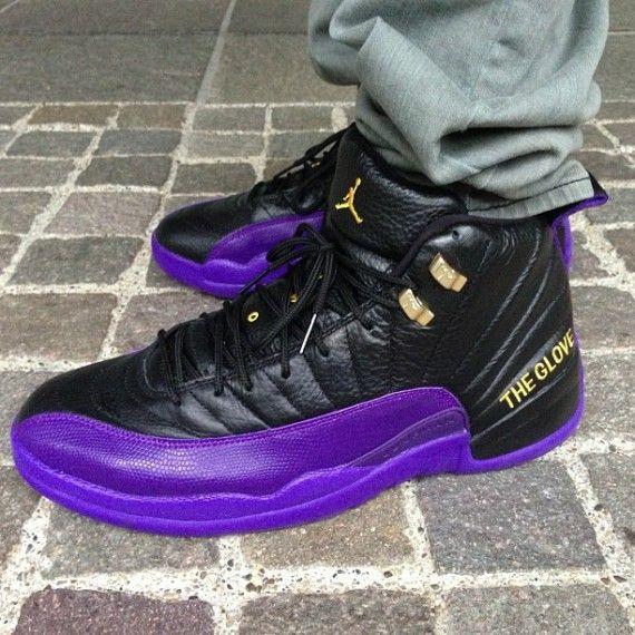 Newest Nike Air Jordan 12 Retro Cheap sale Gary Payton Lakers PE