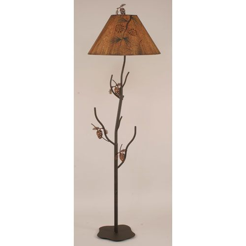 pine cone h shop lamp coast floor wc rustic lamps bu floors collections tray