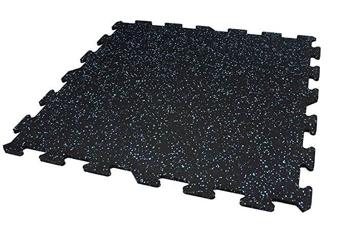 Amazon Com 8mm Strong Rubber Tiles 1 Border Tile Baby Blue 23 X23 Interlocking Rubber Gym Mats For Workout Room Flooring Home Gym Flooring Gym Flooring