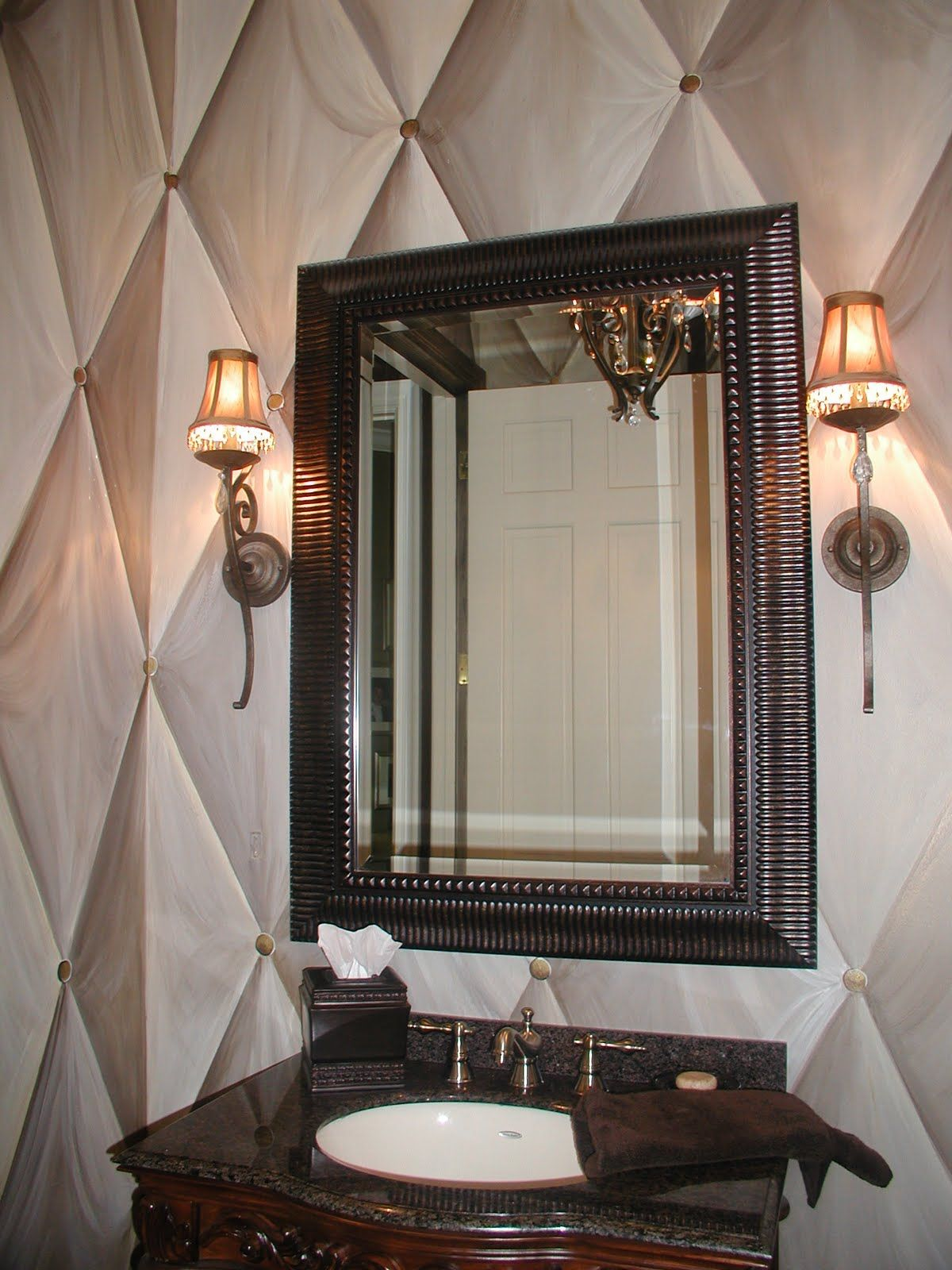 Faux painted powder room.   Faux painting walls, Tuscan ...