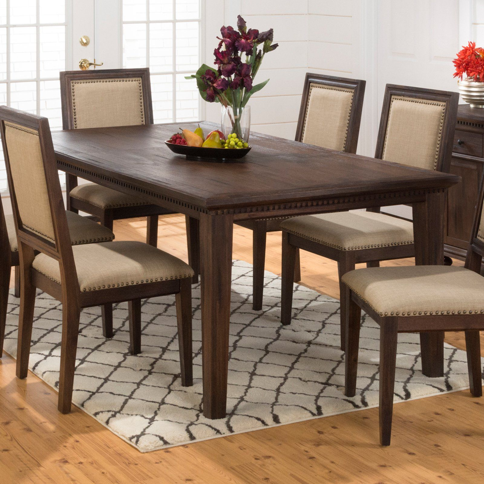 jofran geneva hills rectangle dining table dentil details and a
