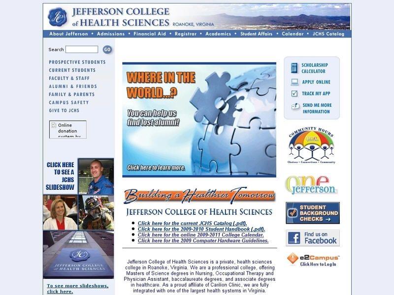 Jefferson college of health sciences health science