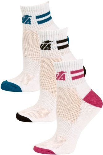 Avia Women's Quarter Sport Socks - 3 Pairs - White Multi by Avia. $8.95. A comfortable athletic sock option for women our Avia Women's Quarter Sport Socks hit just above the ankle and feature the Avia logo trim. These acrylic blend socks have ribbed arch supports and top cuff to ensure a snug fit. The high density heel and toe are abrasion-resistant for longer lasting socks. The mesh top weave allows for better ventilation to keep your feet comfortable and dry. Each pa...