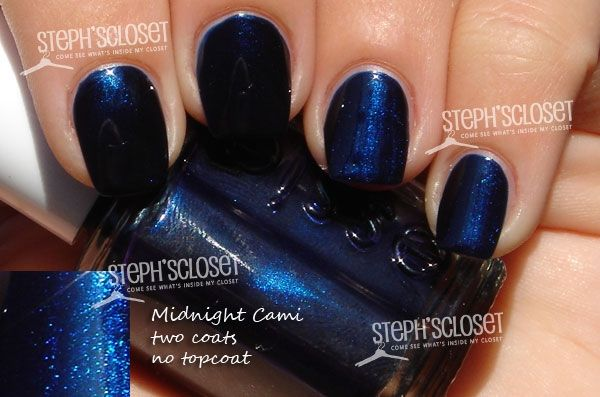 essie midnight cami, a navy blue shimmer | Nails | Pinterest | Essie ...