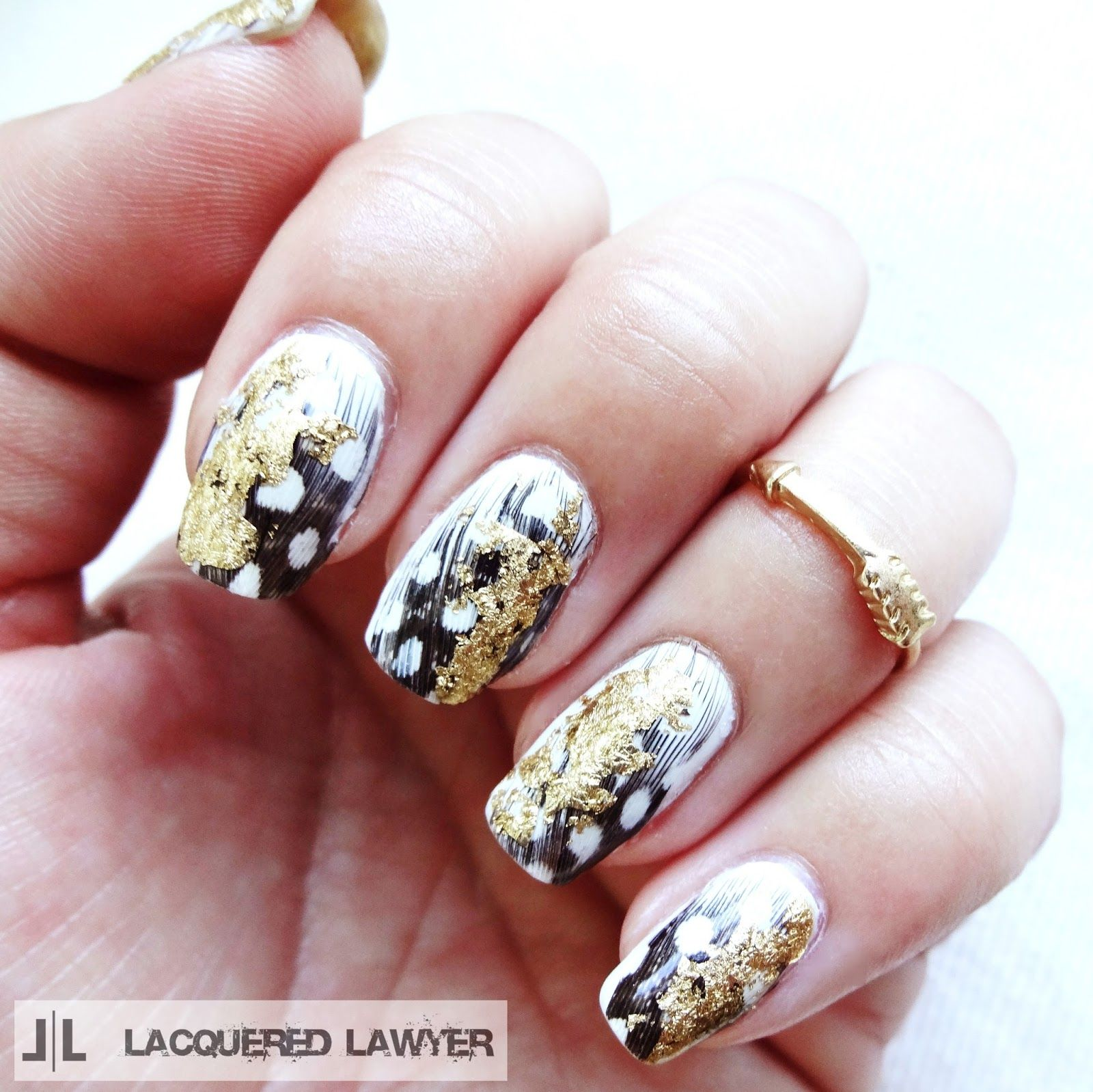 Gilded Feathers | Nail art blog, Feathers and Feather nails