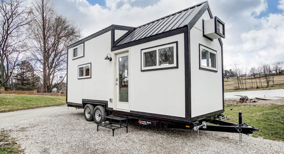 Meet Domino Tiny House For Sale In Indianapolis Indiana Tiny House Listings With Images Tiny House On Wheels Buy A Tiny House Tiny House Exterior