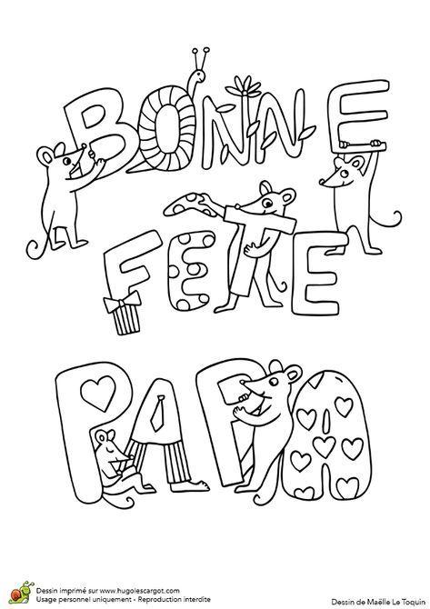 Dessin Bonne Fete Papa : dessin, bonne, Coloriage, Bonne, Fête, Jolies, Petites, Souris, Peres,, Dessin, Pères