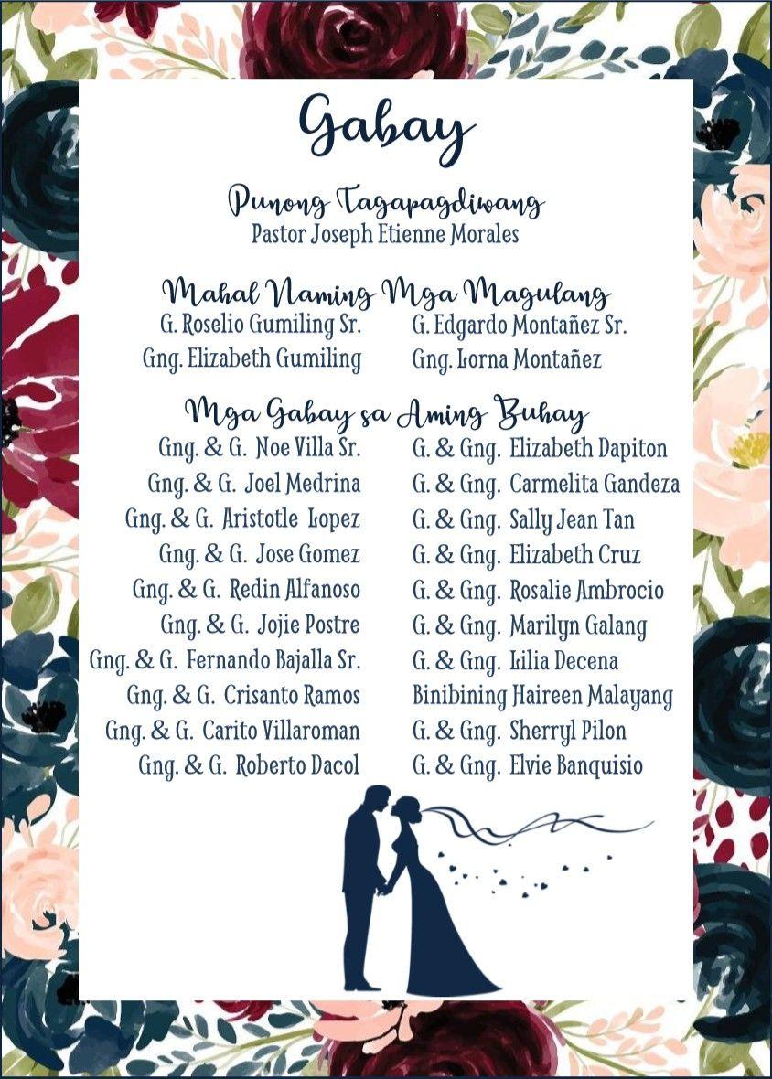Gabay. Principal Sponsors' Page. Tagalog.