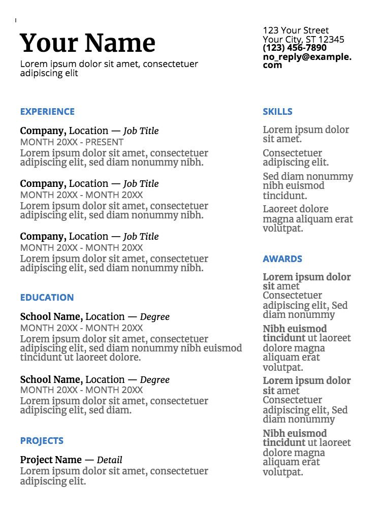 Simple Resume Template Google Docs Innovative Google Doc