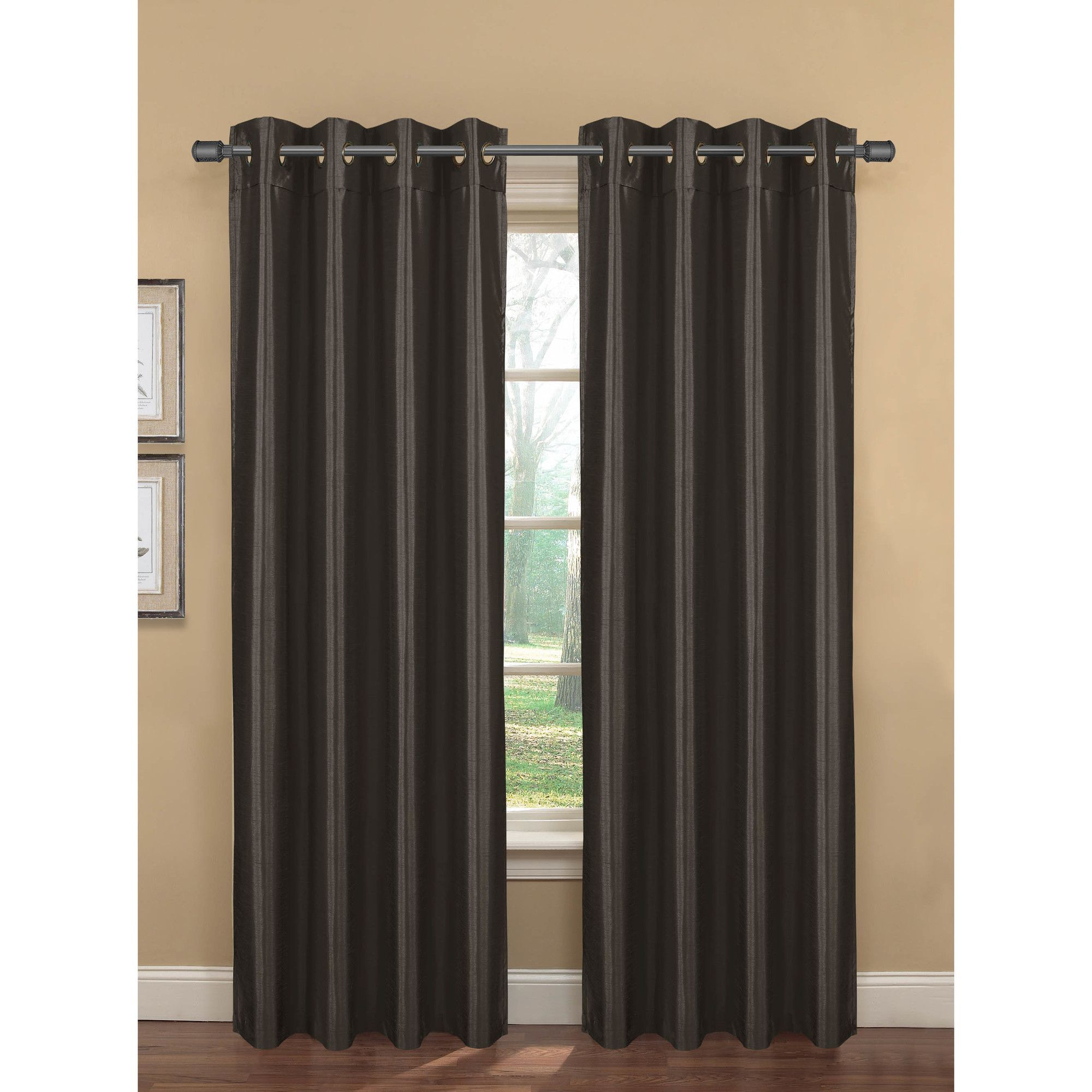 Bliss Faux Silk Room Darkening Curtain Panels Panel Curtains