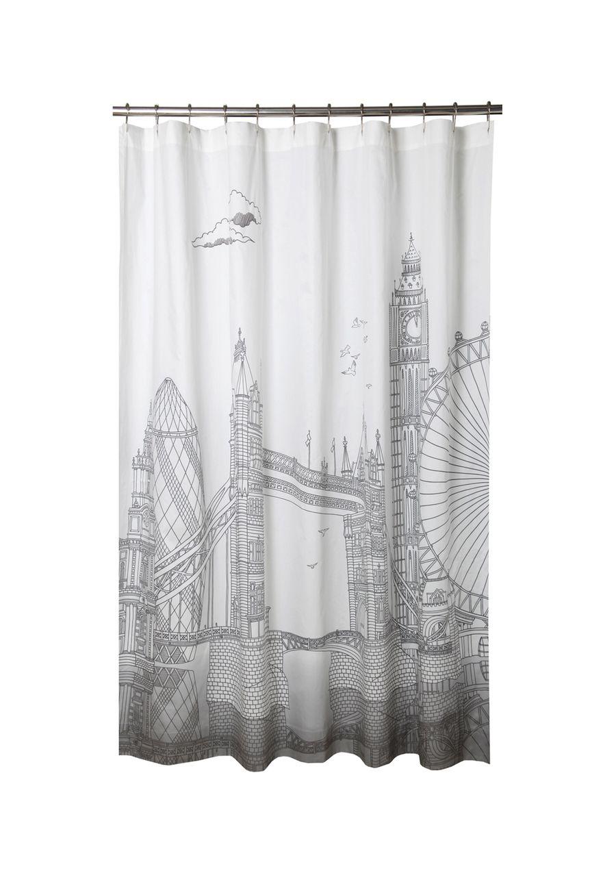 London Skyline Shower Curtain Shower Curtain Stylish Shower