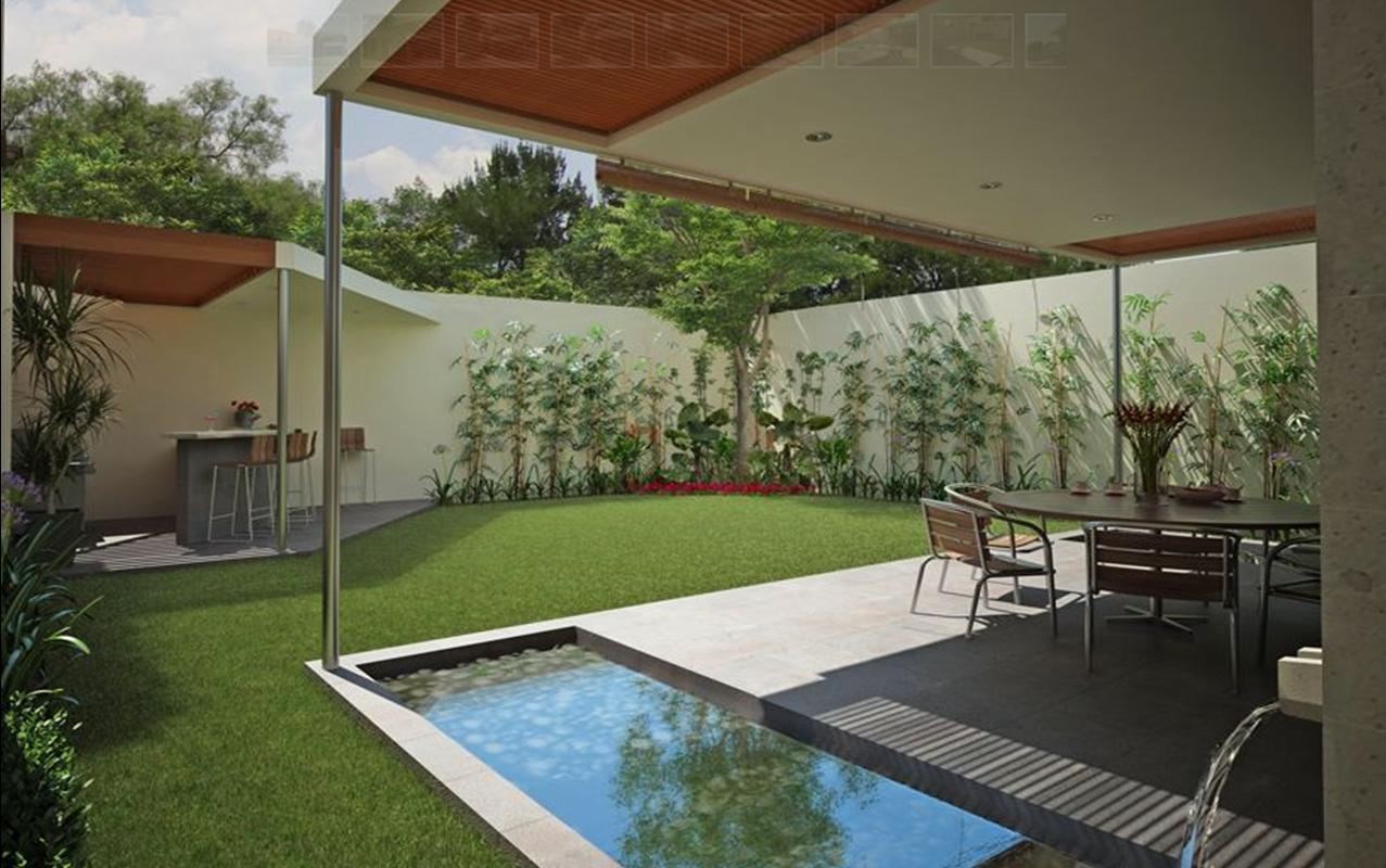 Casa moderna estilo minimalista patios jardines para for Casa minimalista guayaquil