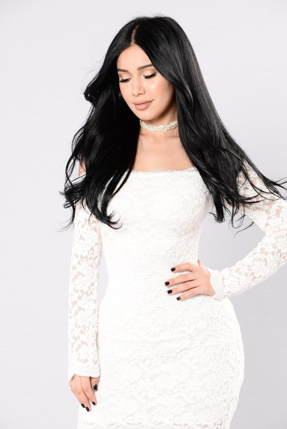 073483d4ab83 Off Shoulder Lace Bodycon Dress - White