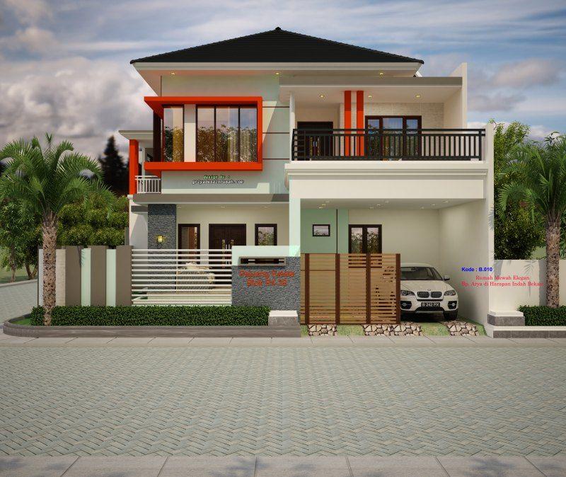 Gambar Rumah Mewah Desain Rumah 2 Lantai Minimalis Modern Elegan Content