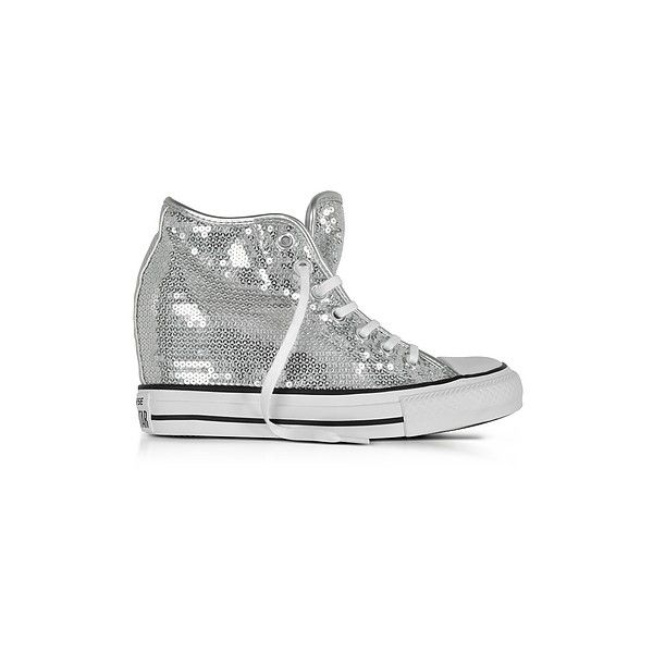 f2615439aeb3 Silver Glitter. Sneaker. Wedge Sneakers. Converse Limited Edition Shoes  Chuck Taylor All Star Mid Lux Sequins... ( 100