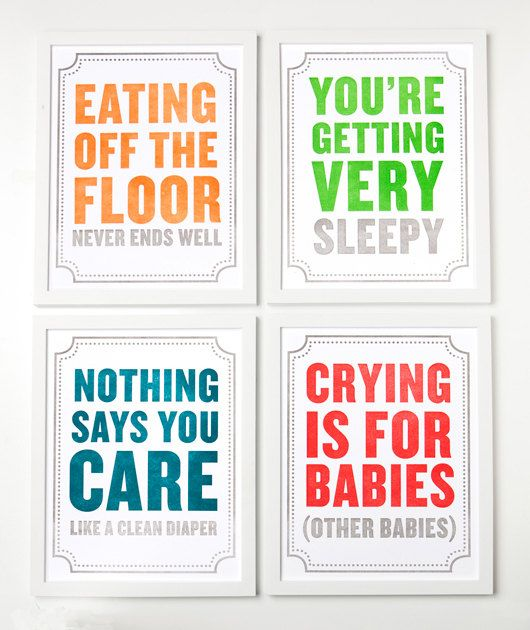 nursery art...for parents