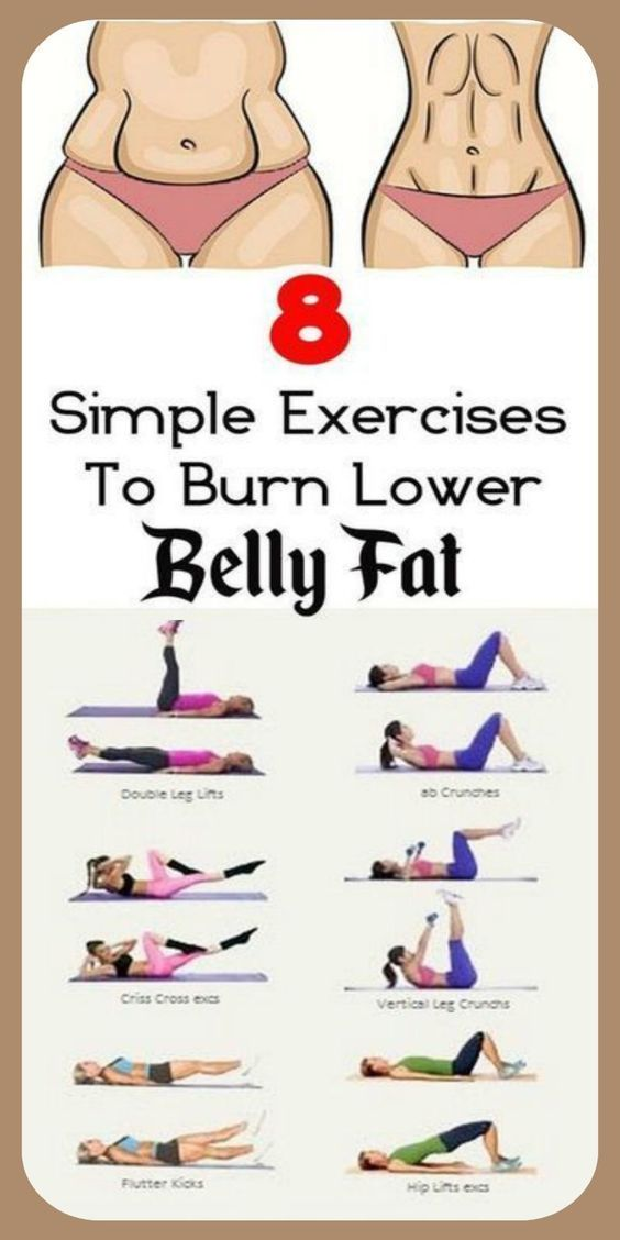 Simple Exercises To Burn Lower Belly Fat - Lower belly workout - #bell...