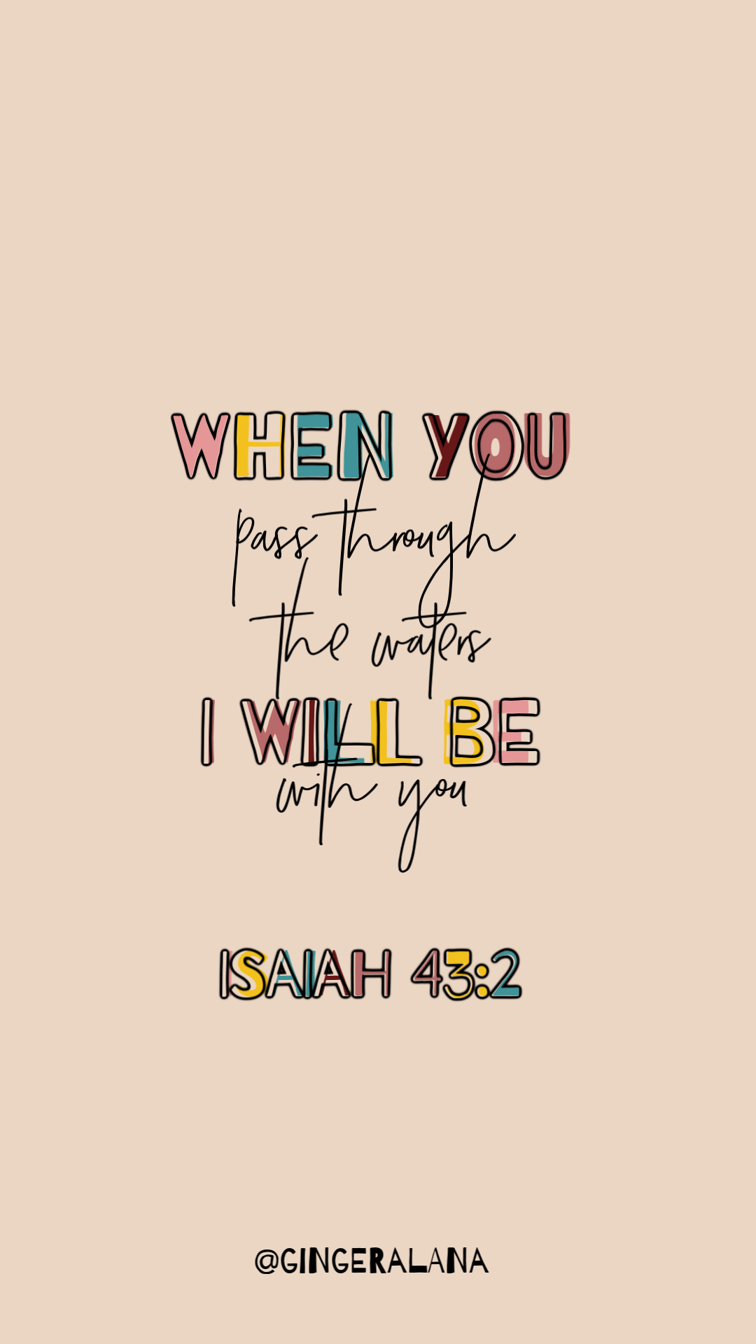 ISAIAH 43:2   MEMORY VERSE - Ginger Alana