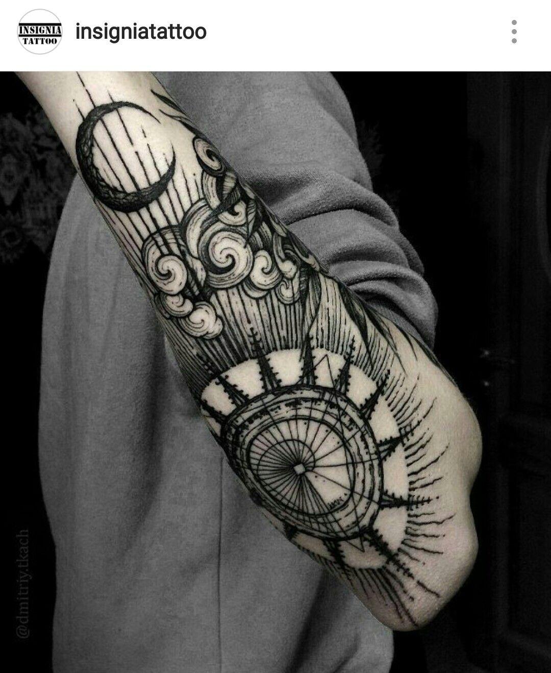 Pingl par ben h sur tattoo ideas pinterest tatouages tatouage noir et cols - Tatouage theme voyage ...