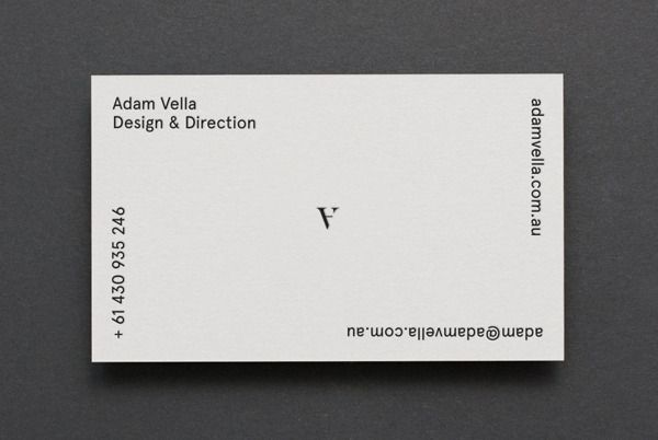 Cartes De Visite Designs Et Minimalistes