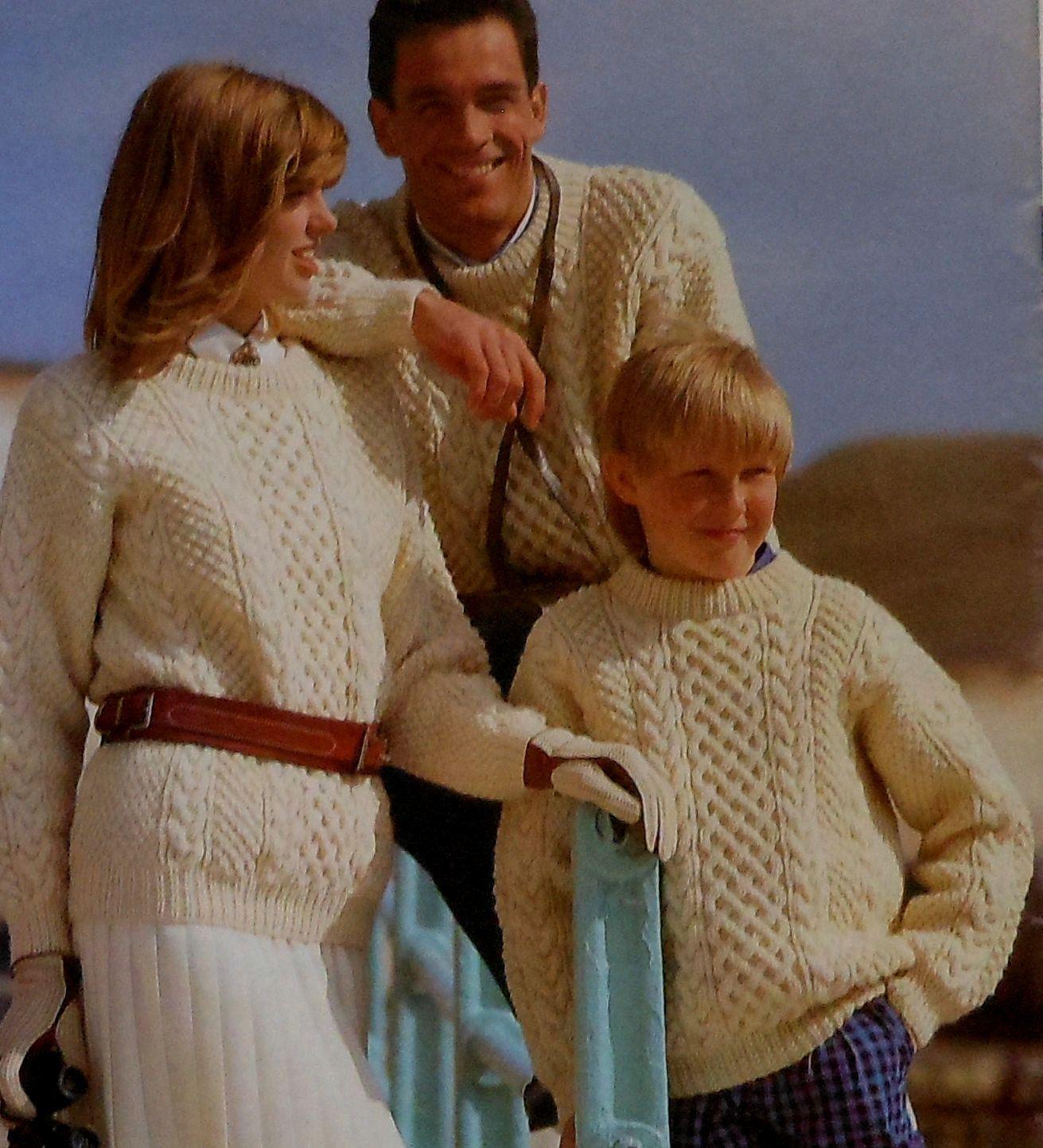 Aran Sweaters Knitting Pattern Booklet \
