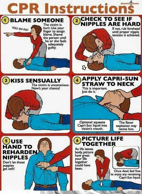 Funny CPR instructions | My style | Pinterest