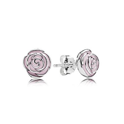 Pandora rose earrings in sterling silver and pink enamel pandora rose earrings in sterling silver and pink enamel pandoraearrings flowers mightylinksfo