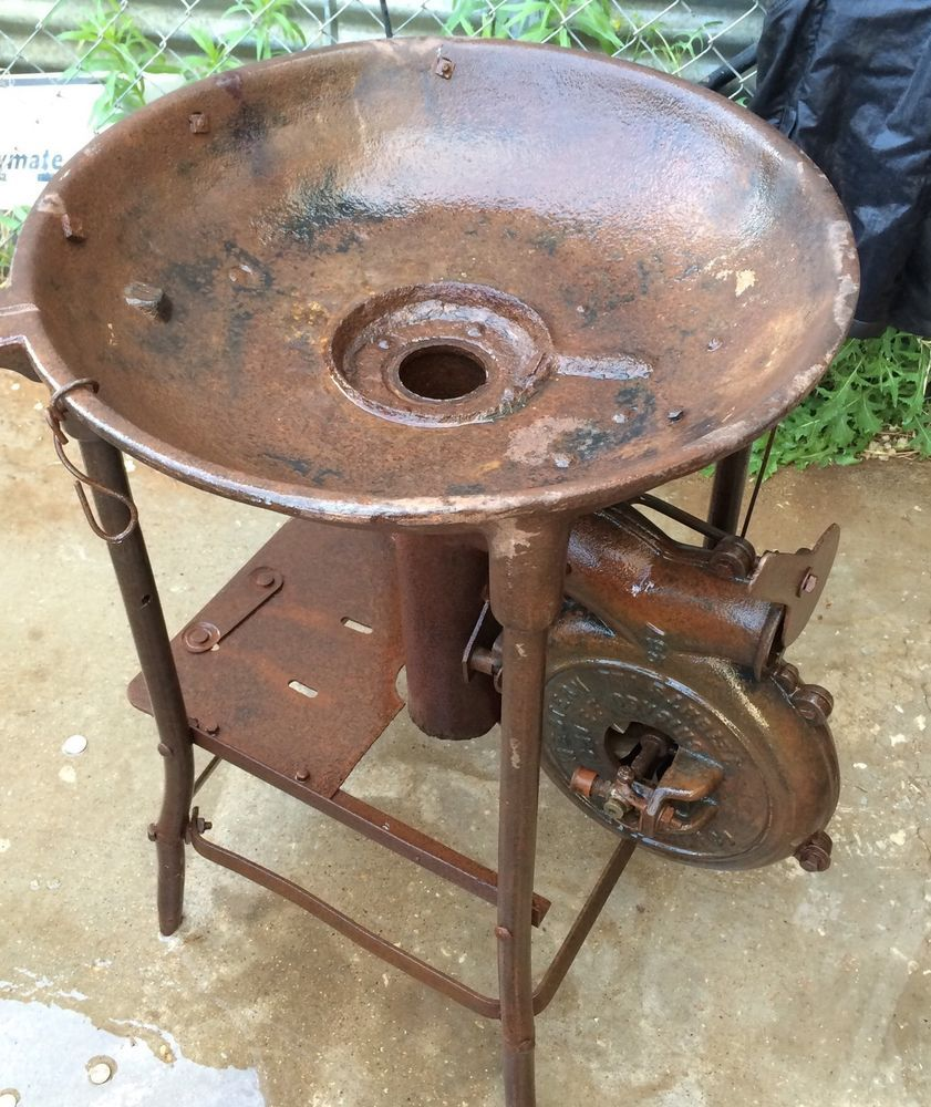 antique cast iron blower and forge blacksmith coal forge farmers