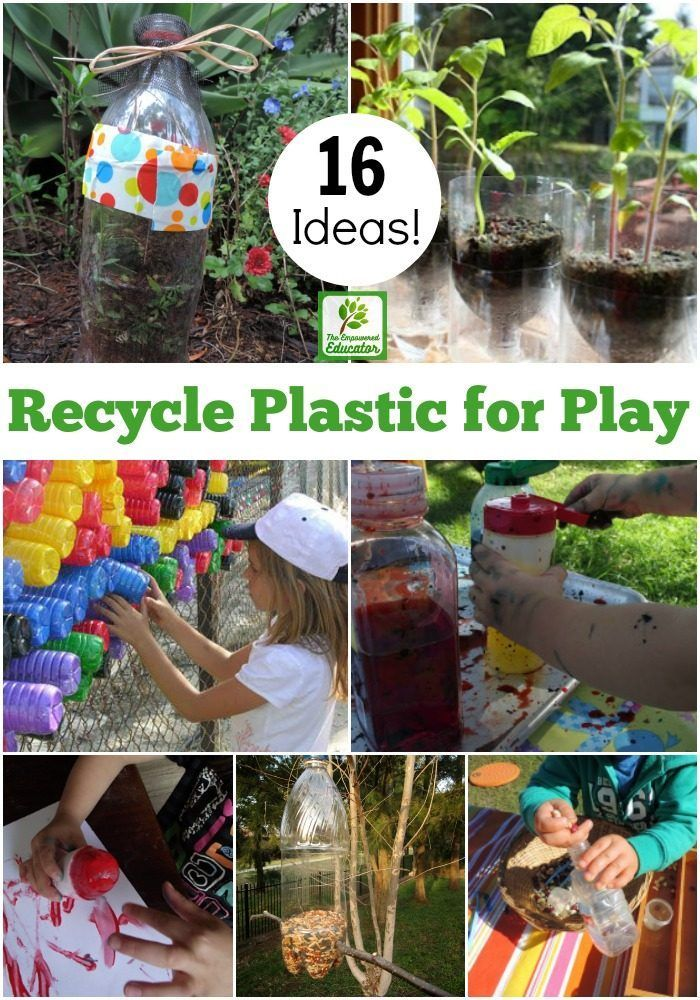 16 Ways To Recycle Plastic Bottles For Play Based Learning Play