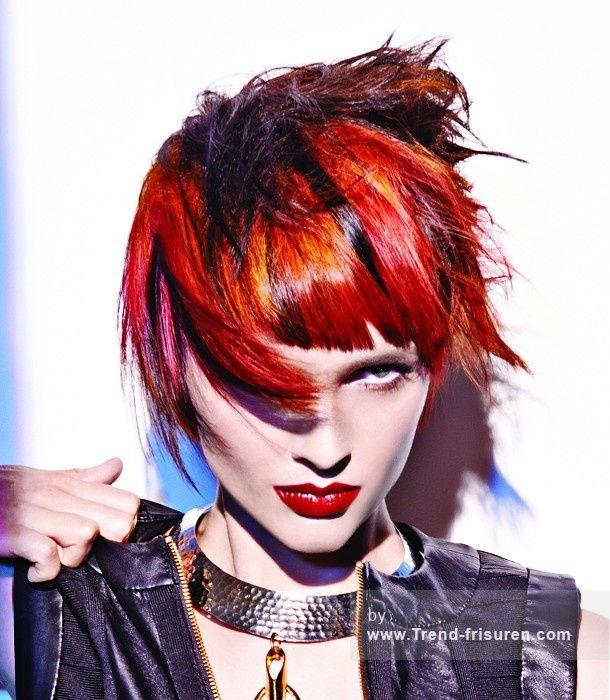 JOICO Kurze Rot weiblich Gerade Farbige Multi-tonalen Orgien Frauen Haarschnitt Frisuren hairstyles