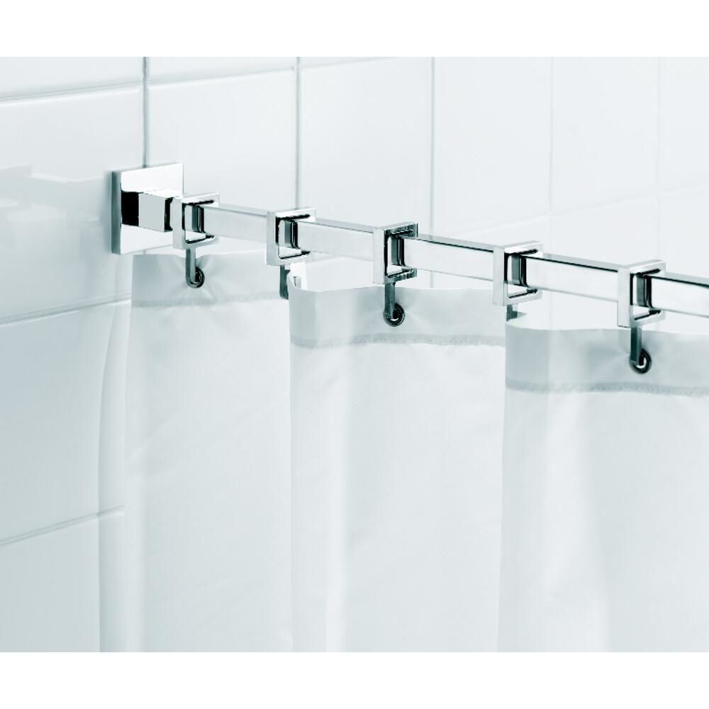 Shower Curtain Rods 168132 Croydex Square Luxury Shower Curtain