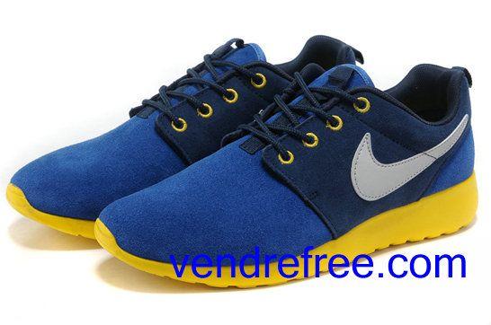 Homme Nike Roshe Run Jaune Chaussures