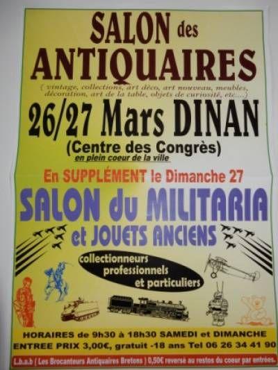 Affiche salon des antiquaires militaria et jouets anciens for Salon des antiquaires