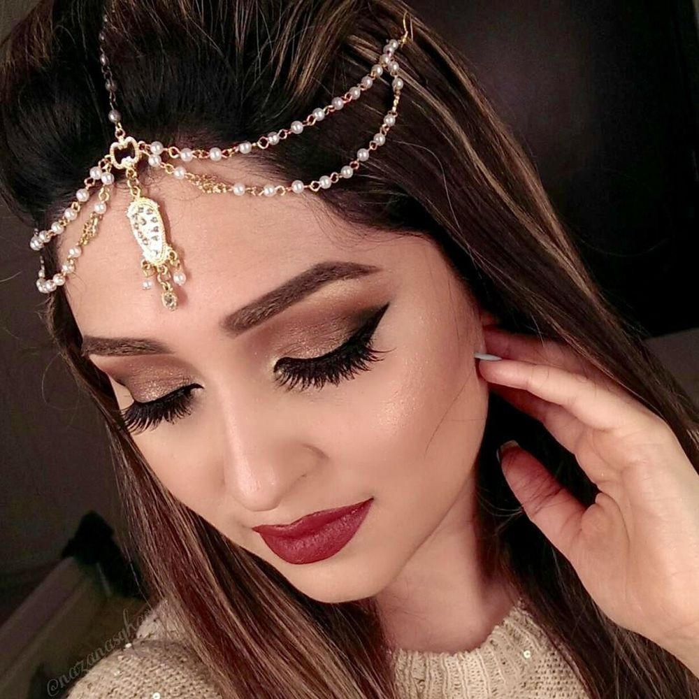 details about head chain gold tone beaded drop pendent hair