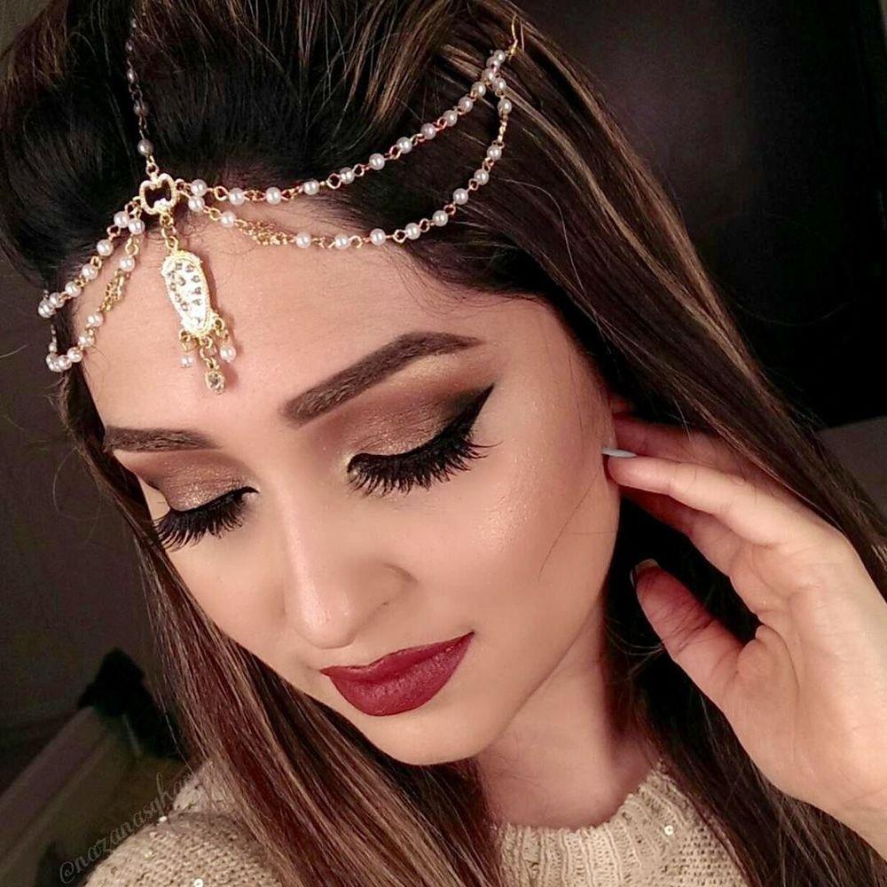 Golden Perla Diamante Kundan Cabeza Cadena Matha Patti Tika Tikka Indian Bollywood