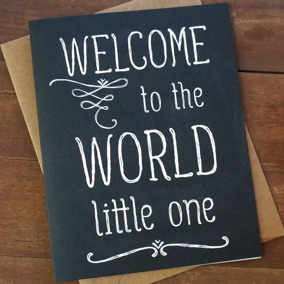 Welcome Baby Card Welcome To The World Baby Shower Card New Baby