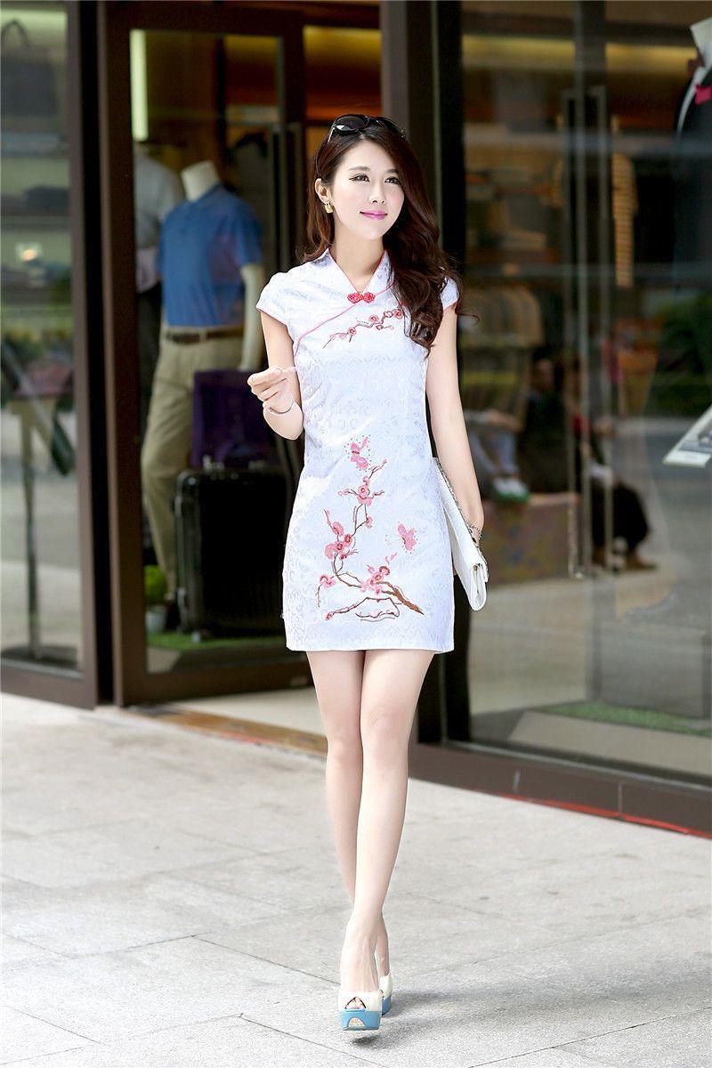 Girl Flower Charming Chinese Women Skirt Qipao Evening Dress ...