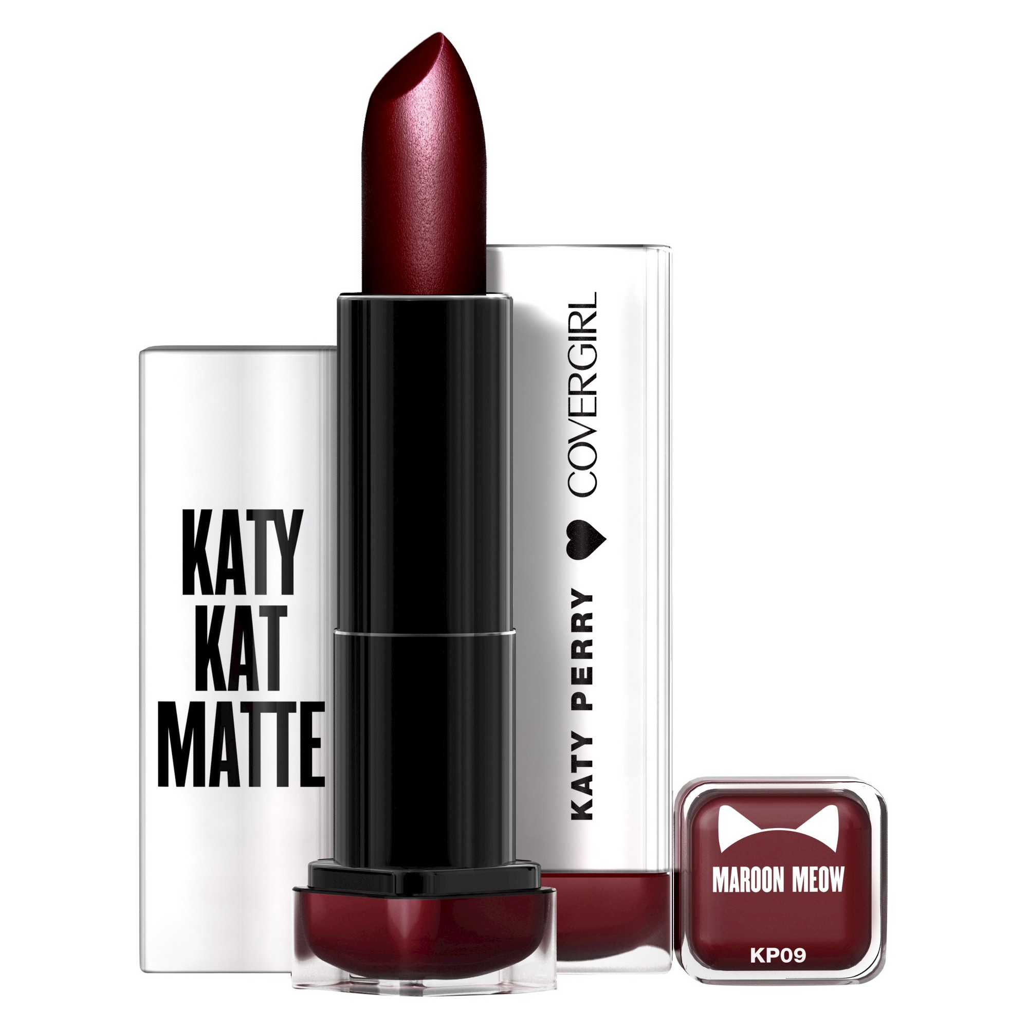 Covergirl Katy Kat Matte Lipstick KP09 Maroon Meow .12oz