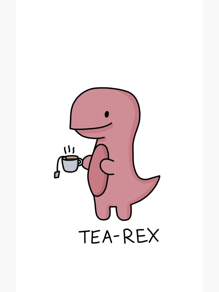 Tea Rex Illustration Case Cartoon Wallpaper Iphone Cute Cartoon Wallpapers Dinosaur Wallpaper
