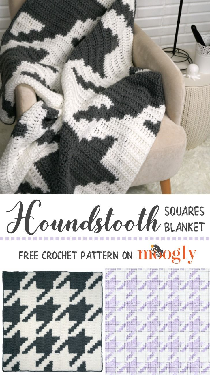 Houndstooth Squares Blanket | Square blanket, Houndstooth and Free ...