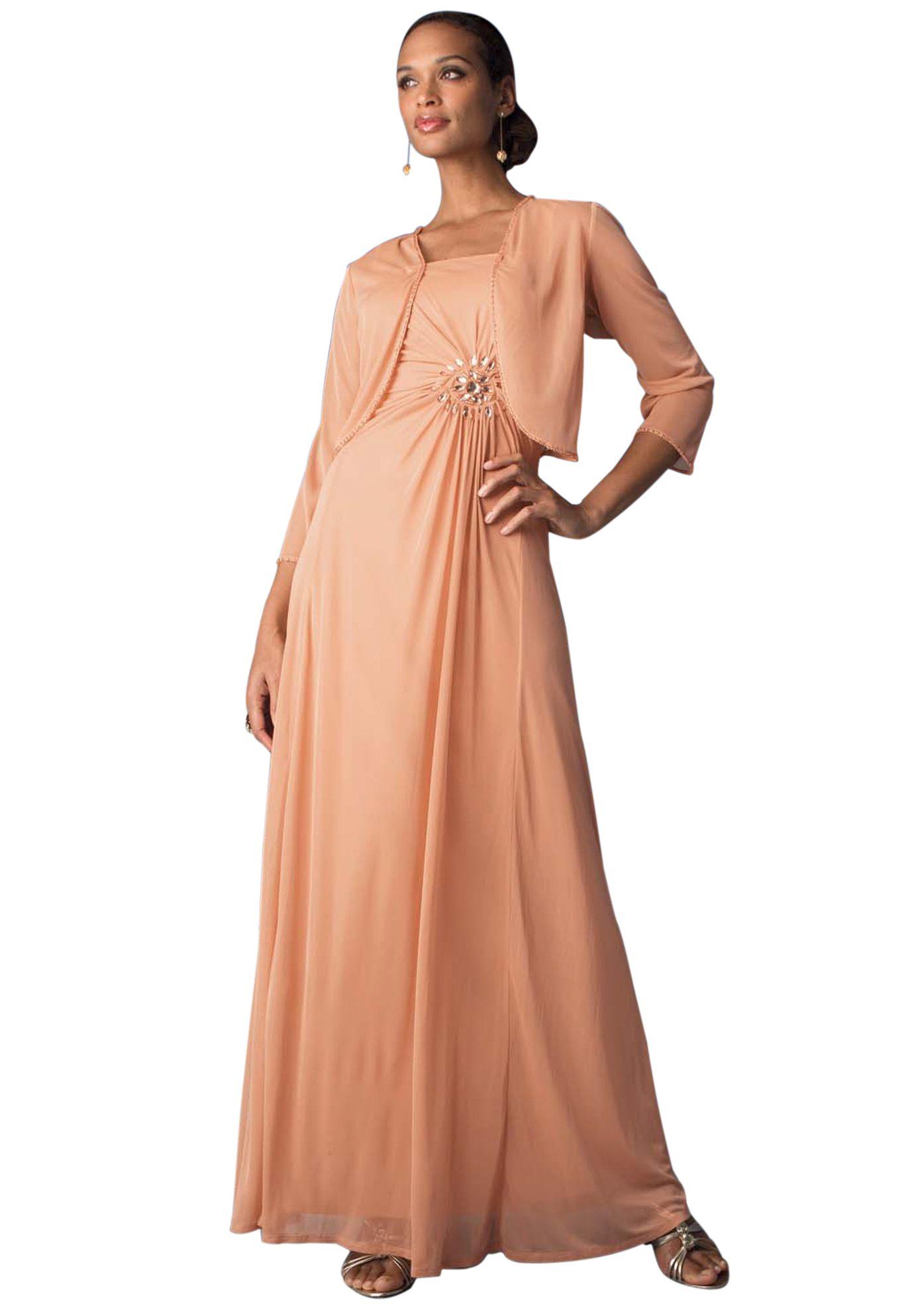 Gathered Bolero Dress Plus Size Dresses Jessica London Grown