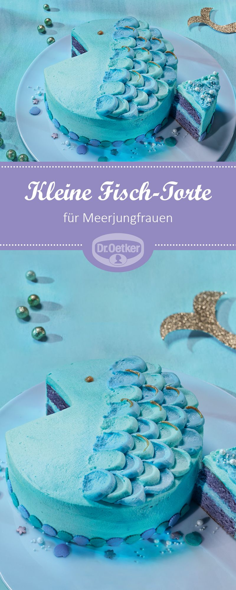 kleine fisch torte rezept in 2019 meerjungfrauen party meerjungfrau torten kuchen. Black Bedroom Furniture Sets. Home Design Ideas