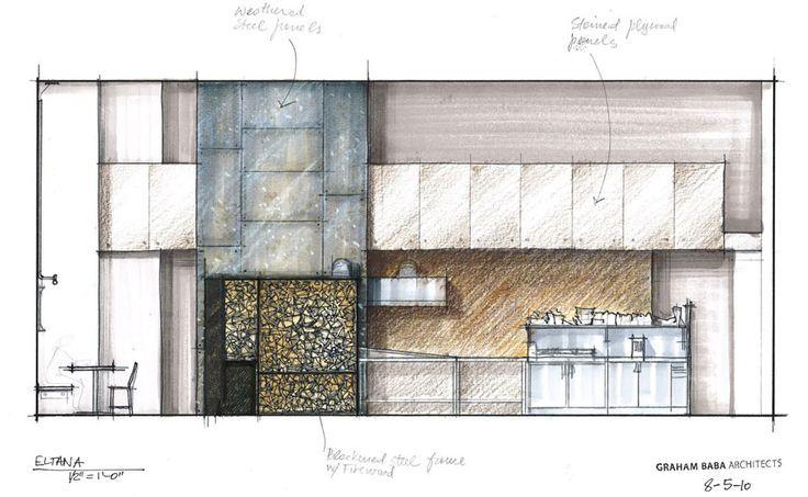 Innenarchitektur skizze cafe  architecture cafe design drawing - Google Search | Vig | Pinterest ...